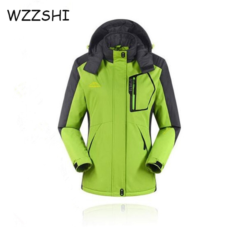2a2778e19c High Quality Women Winter Ski Jackets Outdoor Hunting Wind Stopper Skiing  Climbing Snowboarding Waterproof Lady s Sport Jack